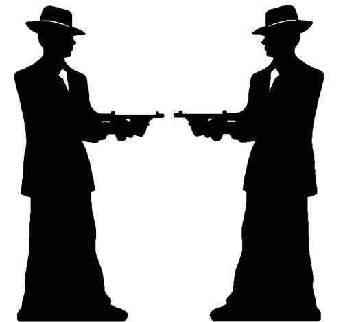 Unbekannt Gangster Silhouette (Double Pack) - Gangsters & Molls - Silhouette LEBENSGROSSE ()
