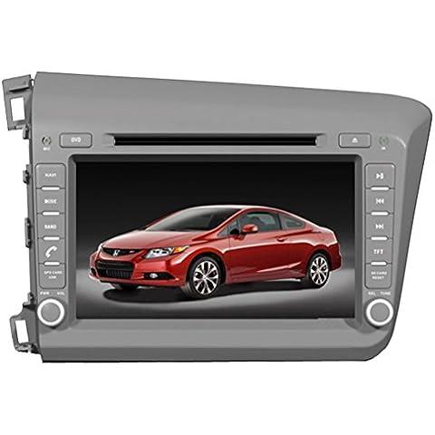 Generic8Inch auto lettore DVD per Honda Civic sinistra guida 2012con navigazione gps wifi Lettore DVD