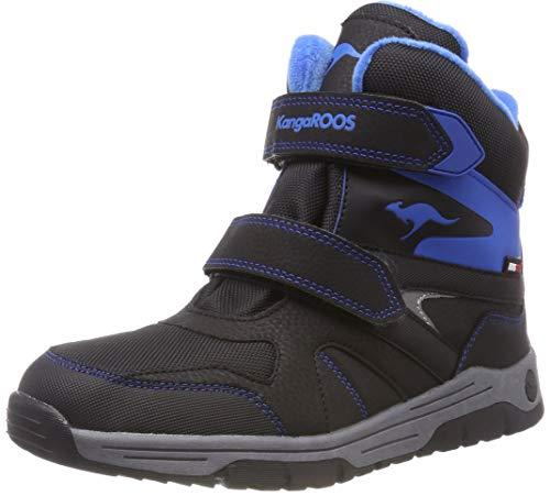 KangaROOS Unisex-Kinder Joos V RTX Klassische Stiefel, Schwarz (Jet Black/Brillant Blue), 29 EU