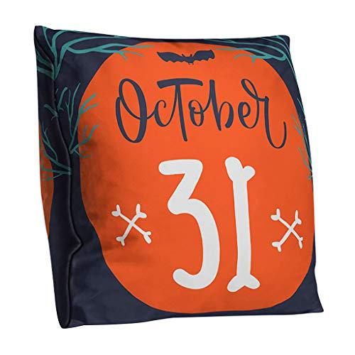 VICKY-HOHO Halloween Kissenbezug Polyester doppelseitige Kissenbezug Home Decoration (Kissenbezug Kopf Kostüm)