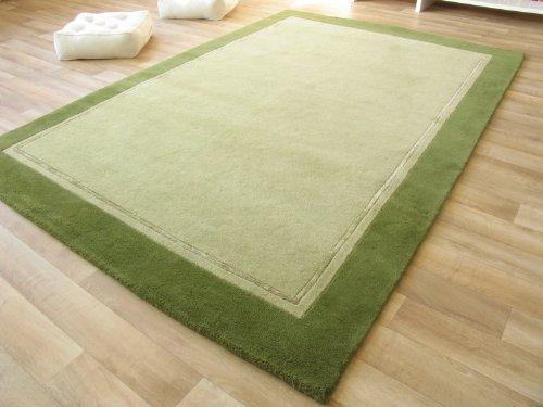 Handgeknüpfter Nepal Teppich Tiara – grün
