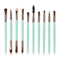Cooljun Popular 10pcs/set Makeup Brush Set tools Make-up Toiletry Kit Wool Make Up Brush Set/Synthetic Hair/Wood Brush (A)