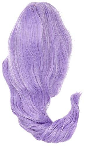 Cosplay Lolita Halloween Perücke für Frauen Lockig Wave Ombre Perücken Haar + Perücke Kappe/Light Purple F17 ()