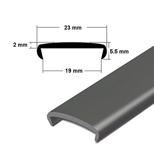 EUTRAS Softkante KSO6001 SCHWARZ 19 mm Stoßkante Schutzkante Kantenschutz
