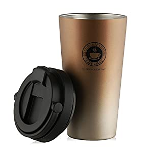 SEPT MIRACLE Fashion Travel Tumbler Double Wall Food Grade Stainless Steel Coffee Mug Vacuum Insulation Water Bottle [500 ml]