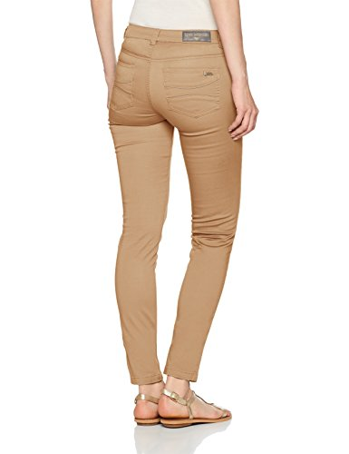 LPB Woman Damen Hose Pantalon Slim Regular Braun (Nussbraun)