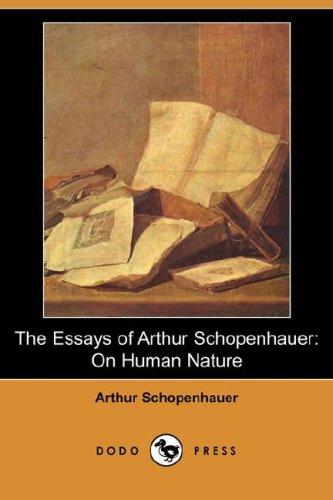 arthur essay human human nature nature schopenhauer