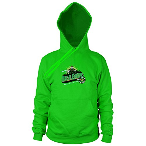 Greetings from Angel Grove Green - Herren Hooded Sweater, Größe: XXL, Farbe: grün