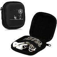 kwmobile Custodia porta auricolari universale - Box porta cuffie In-Ear con  tasca interna e 28c8611167e5
