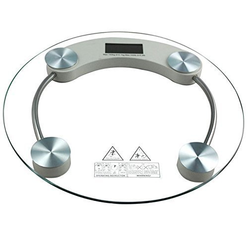 Digital LCD Glass Electronic Personal Weight Body Weighing Scale Round Scale 180kg For Maintaining Your Weight Useful For Weight Management System  available at amazon for Rs.599