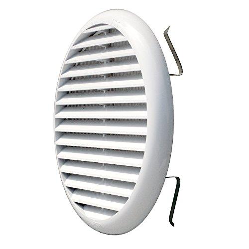 La Ventilazione TUR160B La TUR160B-Y Griglia Plastica con Molle, Bianco, 175 mm