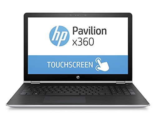HP Pavilion x360 (15-br009ng) 39,6 cm (15,6 Zoll / FHD-IPS) Laptop (Intel Core i5-7200U, 256 GB SSD, 8 GB RAM, Intel HD-Grafikkarte 620, Windows 10 Home 64)  silber,QWERTZ Tastatur