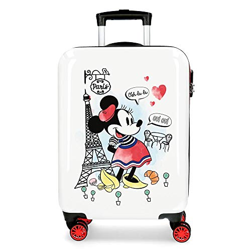 Trolley cabina Minnie Around the World Paris Rosso