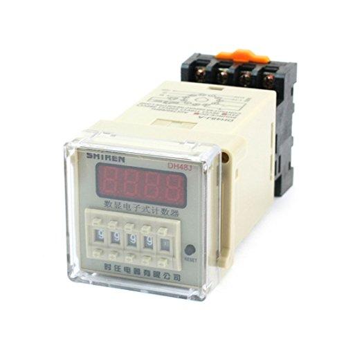 DH48J - 1-999900 30cps Digital Counter Relay w Basis, DC 24V Steckdose DE de -