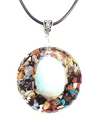 Pendentif en amazone, pierres et cristaux, Nouvel Age, Reiki