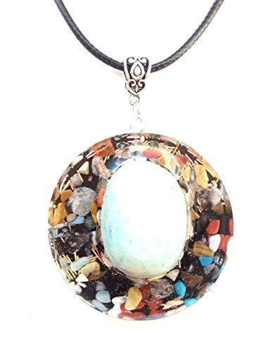 Orgone orgonite ciondolo amazzonite, pietre e cristalli.protezione,energia