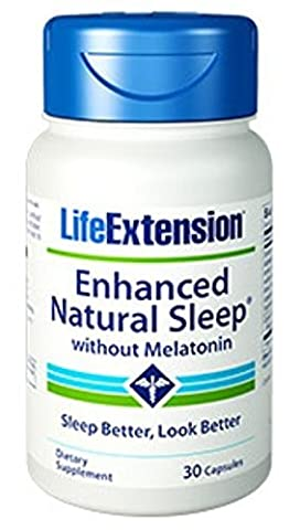 Life Extension - Enhanced Natural Sleep (Without Melatonin) - 30 Caps (Pack of 3) by LifeExtension (Enhanced Natural)