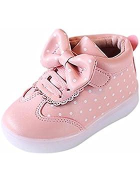 Turnschuhe Baby KIMODO (1-6 Jahre alt) Neu Kinder Jungen Mädchen Bowknot Dot LED Leuchten Leucht Turnschuhe Schuhe...