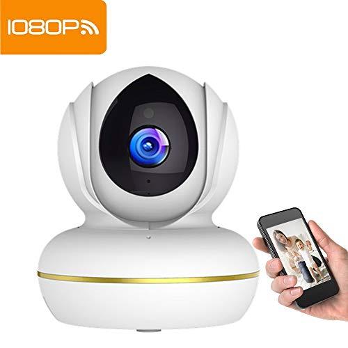 Cámara IP inalámbrica Supereye 1080P WiFi cámara de vigilancia IP Cam sistema de vigilancia con grabación de video, HD visión nocturna, detección de movimiento remoto, alarma de correo electrónico, audio bidireccional, Pan / Tilt, monitor para bebé / anciano / mascota