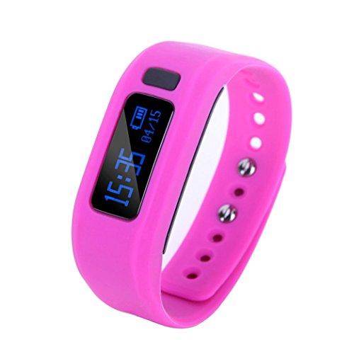 """Preisvergleich Produktbild OverDose Up2 Smart Armband Gesundheit Monitor Bluetooth V4.0 Wristband für Android (nur Unterstützung Android) (Lila, 0.91"""")"""