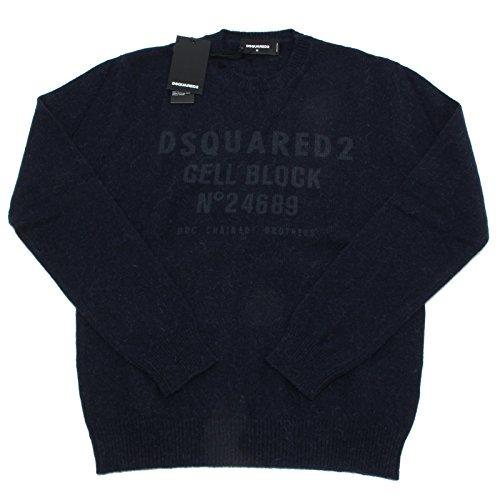 8719L maglione uomo blu DSQUARED D2 lana alpaca maglioni jumpers men [S]