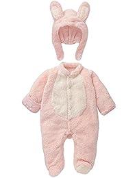 Mamelucos Bebé-Disfraz de Conejo para Bebé Pelele Recién Nacido Frenela con  Gorro Desmontable 3956c1e878c4