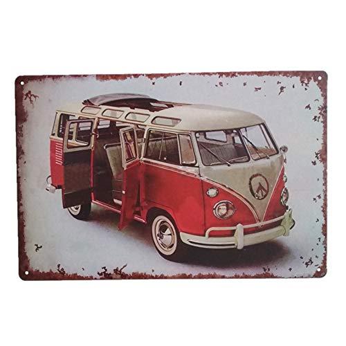 Lovinda Metall Blechschild Retro Bus Werbung Wand Eisenmalerei Metallschild Türschild Wandschild Retro Rost Stil Schild Wohnzimmer/Bar/Coffee Shop Wanddeko (Werbung Vintage)