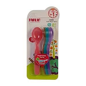 Farlin J'AIME Colour Magic Spoon - 4+ Month (Pack of 7)