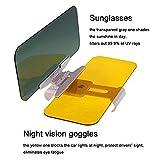 Automático mejorado Visor Solar Visor Nocturno Antirreflejo Parabrisas Visor de Filtrado/Protección UV Visor Solar Extensor Universal Sombrilla Gafas Protectoras (Botón)