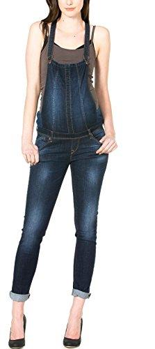 NEW Salopette Jeans Latzhose dark Wash Jeans Damen Umstandsmode