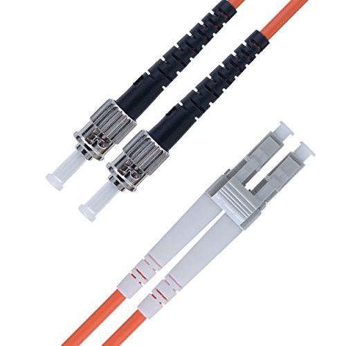 125-duplex-faser-jumper-kabel (LWL Patchkabel LC ST Multimode Duplex Glasfaser - 5 m ST/LC - 62,5/125 OM1 Faser (LSZH) - Patchkabel von Beyondtech - PureOptics Series)