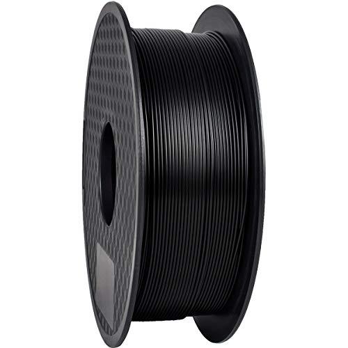 TEQStone PLA Filament 1,75 mm 1 kgfür 3D Drucker und 3D-Stiftein Vakuumverpackung Sauber Gewickeltes(Black/Schwarz)
