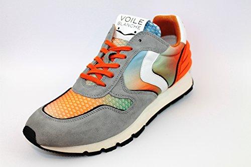 VOILE BLANCHE uomo sneakers basse LIAM POWER grigio-multicolore Grigio-Multicolore