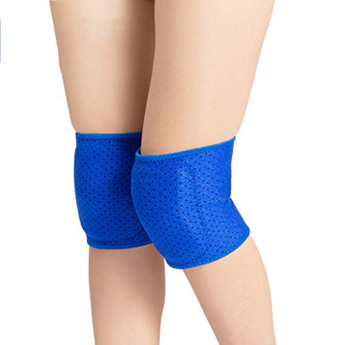 Sportknieschützer Leicht zu verdicken Winddicht Warm Dance Dance Weibliche Knie Spezielle Schutzausrüstung Kinder Männlich 2er Pack XINYALAMP (Color : Blue, Size : M)
