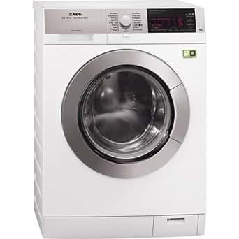 AEG L99699FL Autonome Charge avant 9kg 1600tr/min A+++ Blanc machine à laver - machines à laver (Autonome, Charge avant, Blanc, Gauche, boutons, Rotatif, 9 kg)