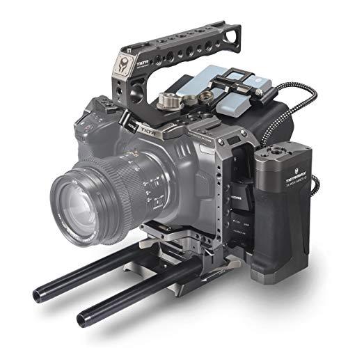 (Tilta Gray) TILTA TA-T01-A-G BMPCC 4K Kamera Käfig Tactical Camera Cage Blackmagic Pocket Cinema Camera 4K Rig (Tactical Kit) Cinema-kamera
