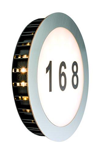 Paulmann Hausnummernleuchte, Glas, Integriert, Weiß -