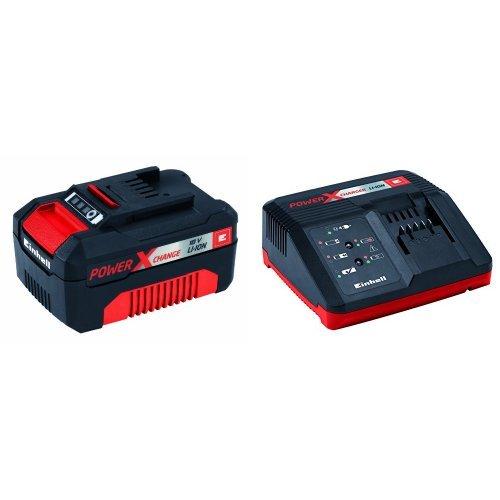 Einhell Power X-Change - Batería (18 V, 3.0 Ah, 60 min) + Power X-Change - Cargador (18 V)
