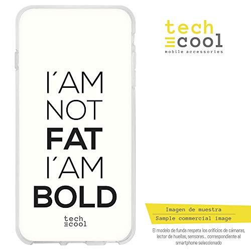 Funnytech Xiaomi Redmi Note 6 Pro Hülle SchutzHülle Soft TPU Silikon Transparent für Xiaomi Redmi Note 6 Pro l Case, Cover, Handy, High Definition Druck [I´am not Fat Fondo Blanco]
