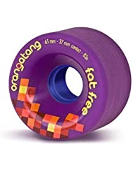 Orangatang Fat Free Freeride Roues 83a Violet 65 mm