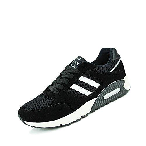 Chaussures De Sport Occasionnels Pour Hommes Chaussures De Course Respirant Et Confortable 863 Noir
