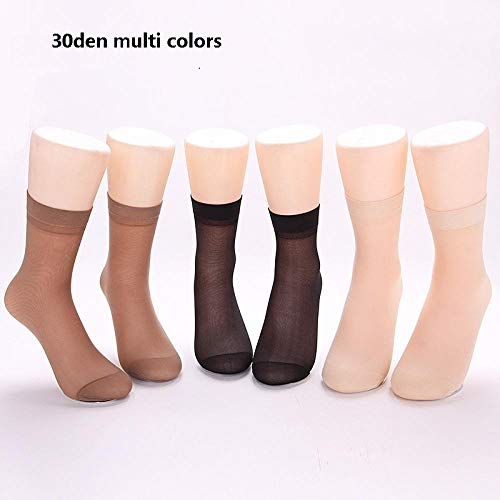 CHENHUI Socken 60 stücke = 30 Paare Frauen Bambusfaser Nylon Socken Seide billig Gute qualität cool für Damen samt @ Multi Farben 1 -