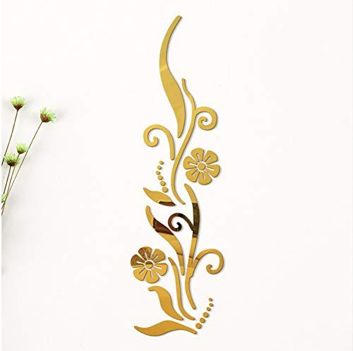 Kreative 3D Diy Blume Poster Dekorative Rambling Vine Acryl Spiegel Wandaufkleber Hauptwanddekor Raumdekoration Abziehbilder Rambling Vine