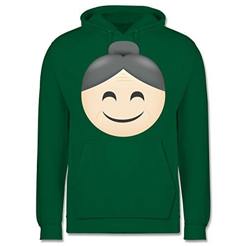 Comic Shirts - Oma Emoji - Männer Premium Kapuzenpullover / Hoodie Grün