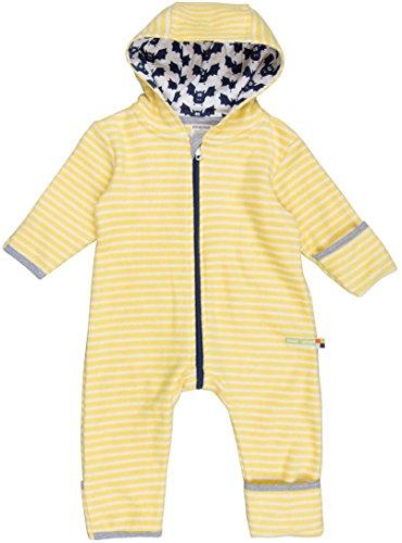 loud + proud Unisex Baby Schneeanzug Overall Fleece, Gelb (Honey/Natural Hon/Na), 92 (Herstellergröße: 86/92)