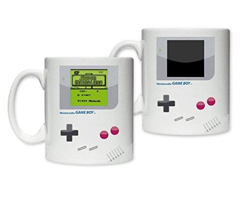 Keramik-keramik-tasse (Nintendo Game Boy Thermoeffekt Tasse Super Mario 300ml Keramik weiß)