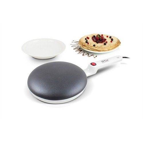 Multifunktion Crepepfanne Anti-Haft beschichtet 20 cm Crepe Maker Kuchenpfanne inkl. Teller