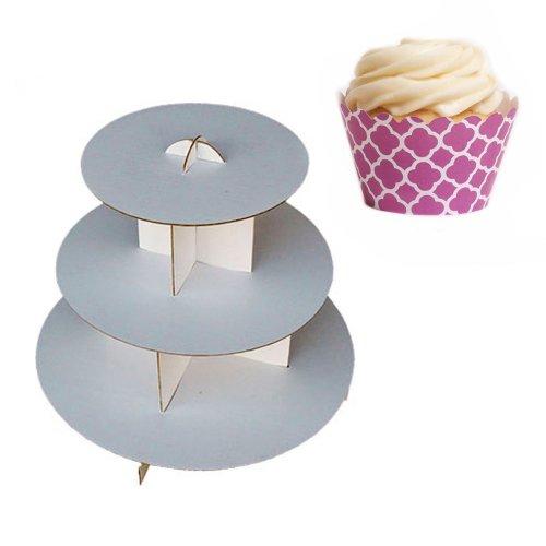 Kleid My Cupcake dmc30960Cupcake Ständer aus Karton Kit mit Mini Wrappers, Cherry Blossom Spanische Kacheln Vierpass - (Mini-kleid Blossom)