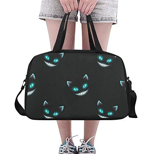 ze Lächeln Gesicht große Yoga Gym Totes Fitness Handtaschen Reisen Seesäcke Schultergurt Schuh Beutel für Übung Sport Gepäck für Mädchen Männer Womens Outdoor ()