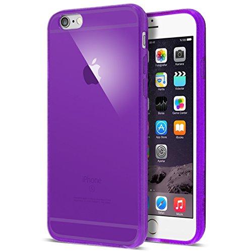 Case Buddy TM - Cover in silicone trasparente e protezione schermo per iPhone 6 [4.7] e iPhone 6 Plus [5.5] Viola